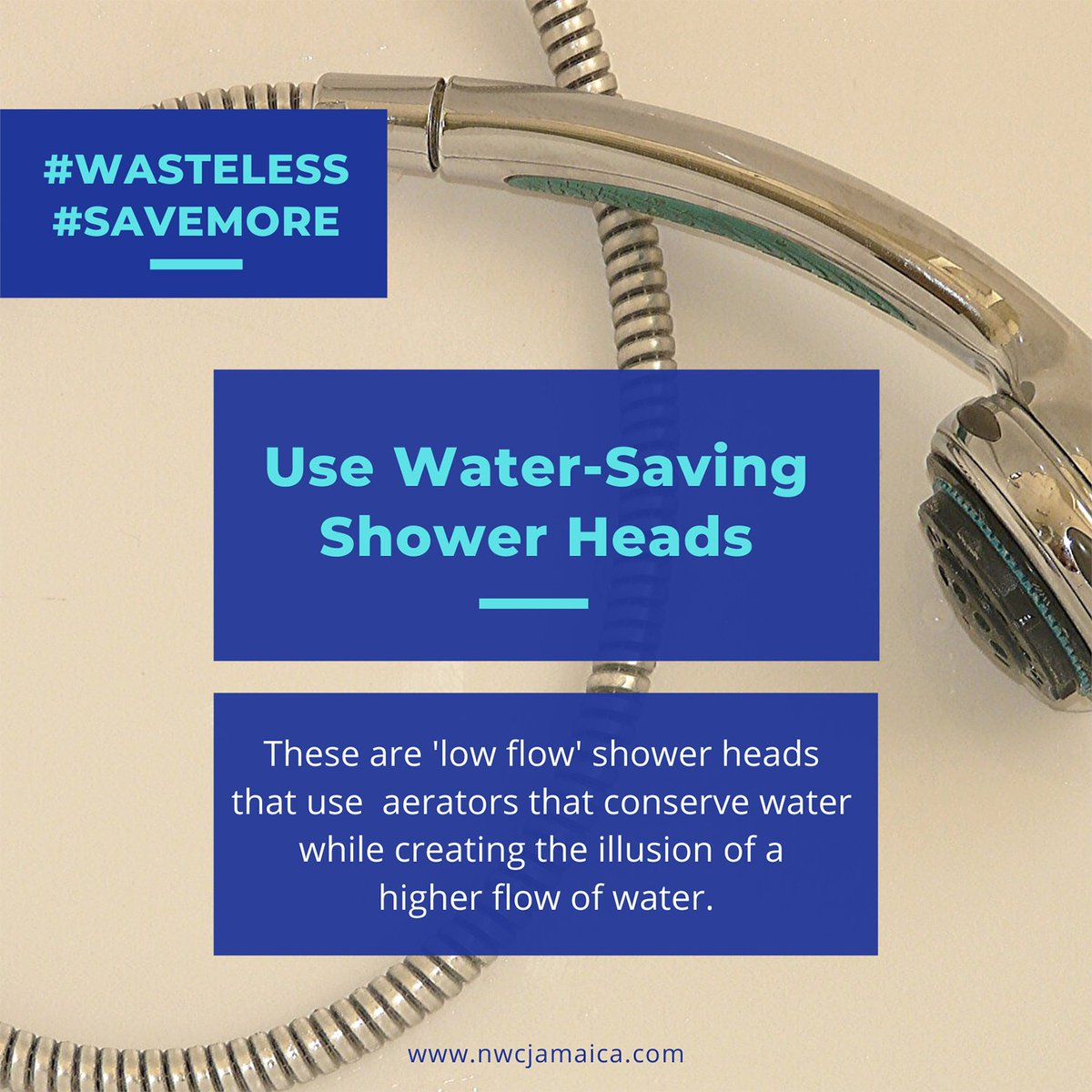 #waterwarriors Save water in your bathroom by using 'low flow' water-saving shower heads with aerators that use less water while creating the illusion of a higher flow. We continue to urge our customers to #conserve as #everydrop counts!
