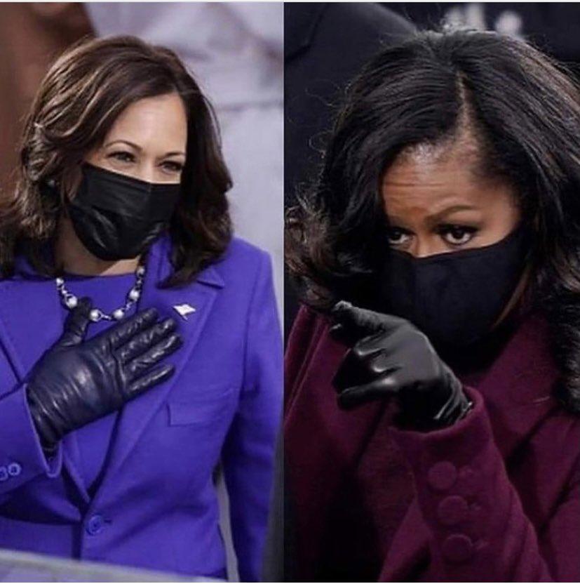 I absolutely LOVE ❤️ this🥺😍🤗 #MichelleObama #KamalaHarris #InaugurationDay #Inauguration2021
