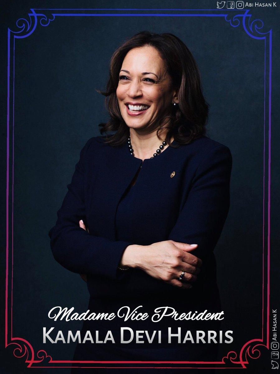 @VP I am so happy to call you, Madame Vice President #KamalaHarris