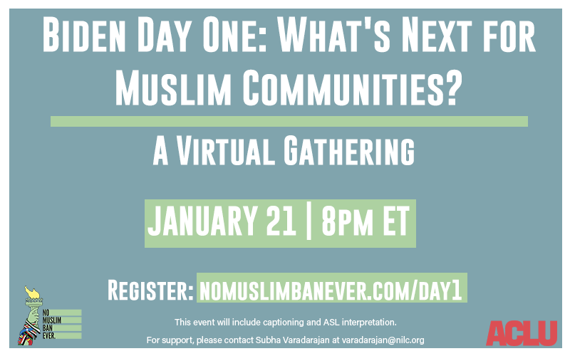 Join us and the @NoMuslimBanEver campaign tonight at 8pm to celebrate the repeal of the Muslim ban which targeted Africans, and chart the path forward.  RSVP: