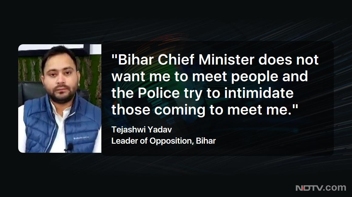 "#TrendingTonight | ""I listen to the expectations of people"": @yadavtejashwi, Leader of Opposition, Bihar  #NDTVExclusive"