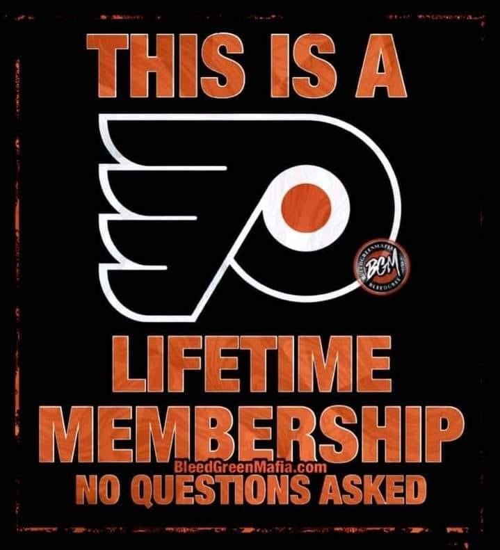 Lifetime Membership. #LetsGoFlyers #AnytimeAnywhere #LifeTimeMember
