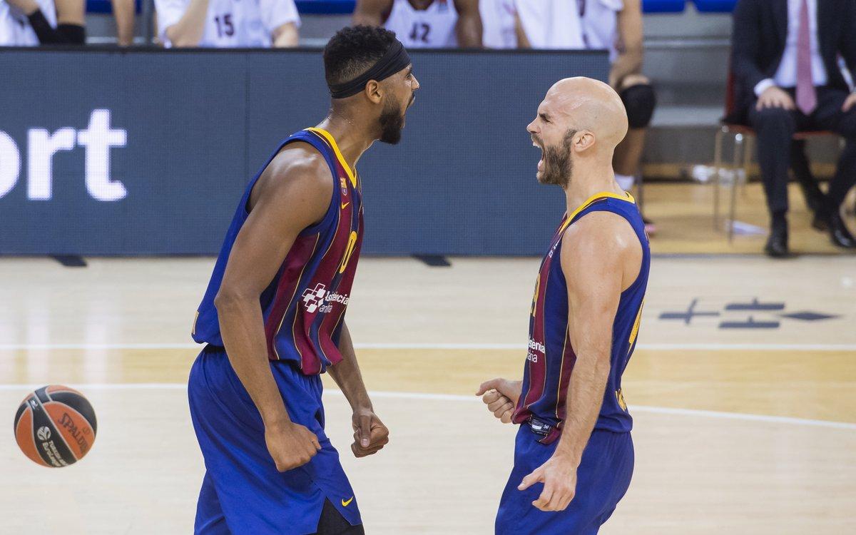 🏀 Game Day! 🆚 @kkcrvenazvezda  📅 19h 🏆 Round 21 @EuroLeague  🎥 @DAZN_ES @MovistarPlus  📌 Pionir 🔵🔴 #ForçaBarça!