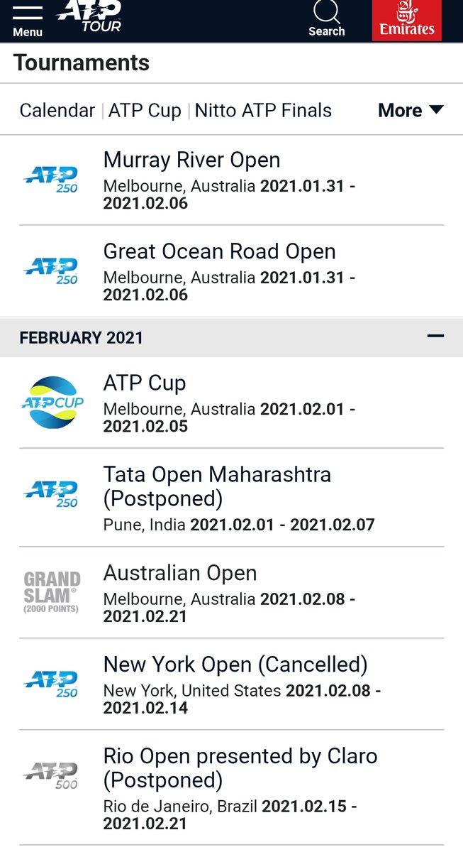 Calendario oficial ATP hasta inicio de mayo luego de las inclusiones de los torneos #ATP250 Singapur y Marbella. Info por @BancoPacificoEC #TuBancoBanco https://t.co/at6xWXHwch