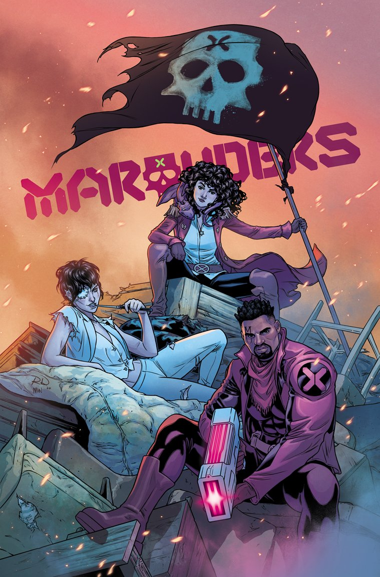 MARAUDERS #19 cover! ✖️🏴‍☠️ Drawn by me, colored by @COLORnMATT!