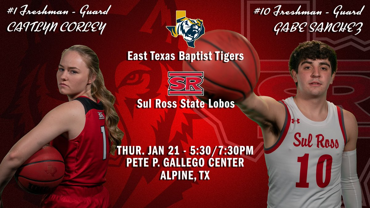 The Lobos are in action tonight with an ASC clash against the Tigers of ETBU!  TIP: 5:30/7:30 p.m.  📺 WATCH:   📊 LIVE STATS: WB:  MB:   😷 PROTOCOLS:   #SRSU #ASChoops #d3hoops