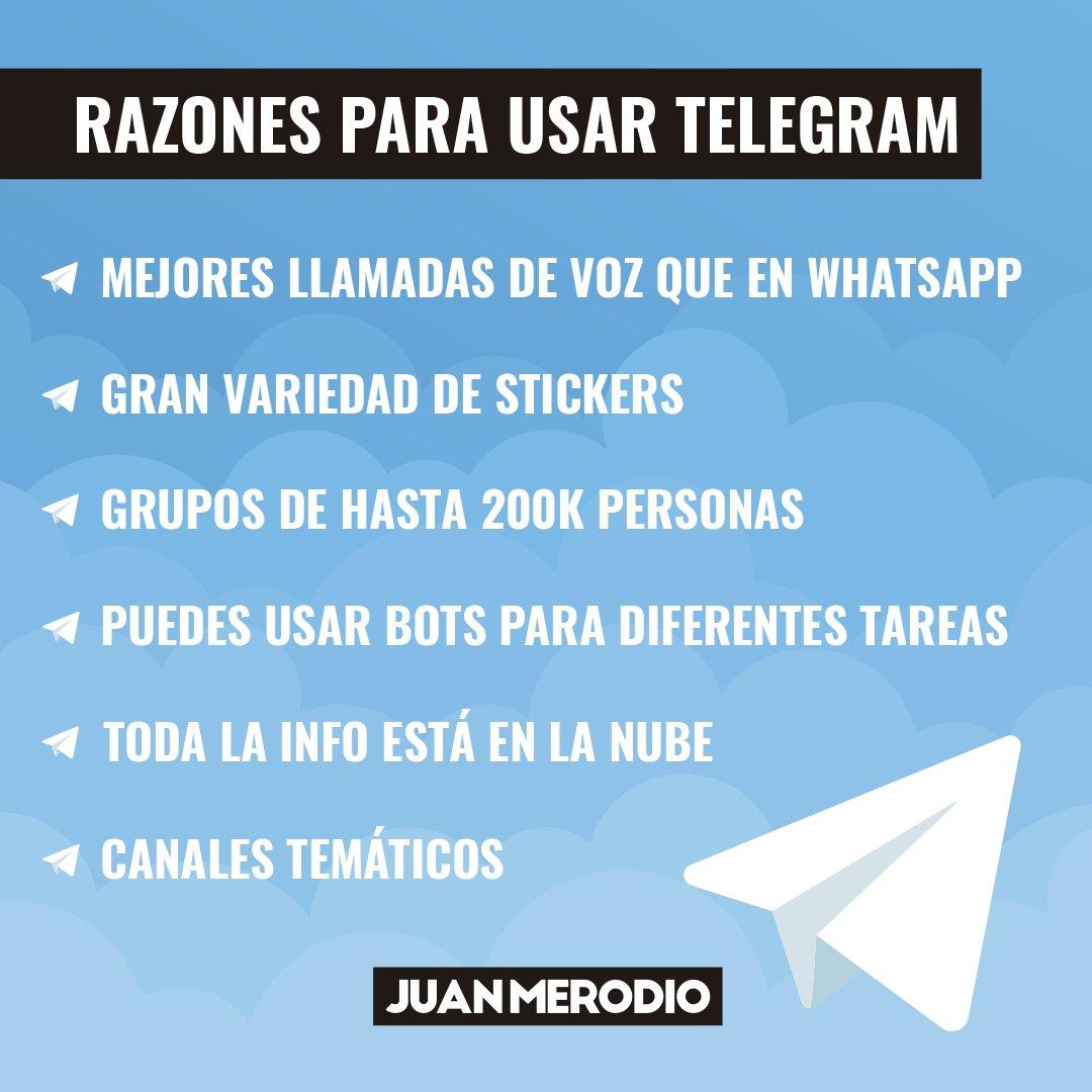 Las últimas noticias alrededor de las políticas de privacidad Whatsapp han provocado una fuga masiva a otras aplicaciones de mensajería y #Telegram ha sido una de las grandes beneficiadas  En la infografía de hoy te doy algunas razones, más allá de la privacidad, para cambiarte. https://t.co/Q9lhb5md84