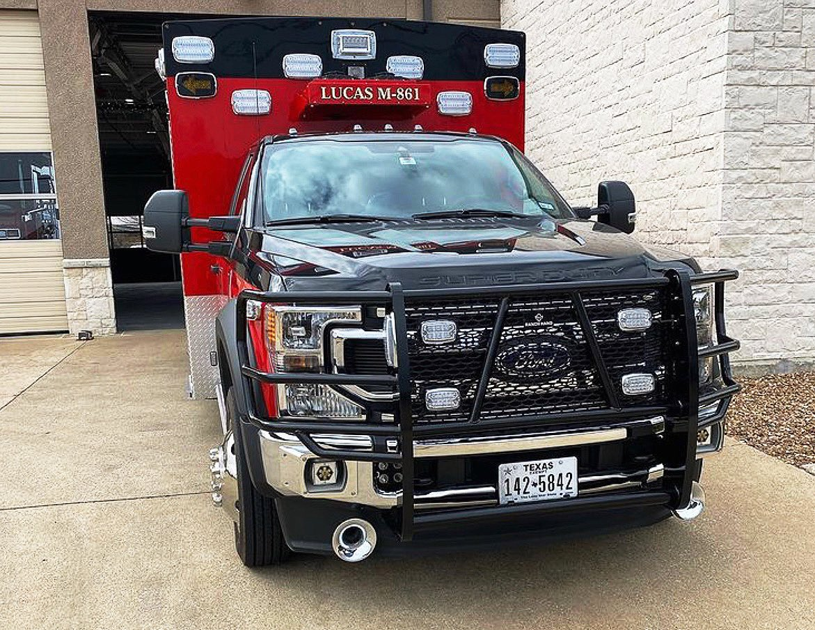 WOW🤩 thank you @lucasfiredept for choosing @WhelenEng M series/ V series / Pioneer Plus on your N E W @BraunAmbulances.  #havisequipped #texas #texasfirefighters #innovation #thebest 🚦🚨🚑