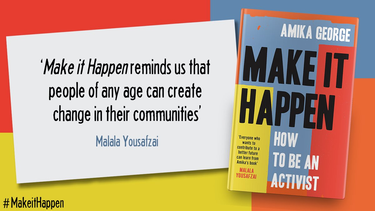 """There is much that needs changing. And YOU can be the one to do it."" — @AmikaGeorge   Delighted to share that activist and former Assembly editor @amikageorge just published her book, Make It Happen! Check out her inspiring guide to activism, out now on @HQStories 📖"
