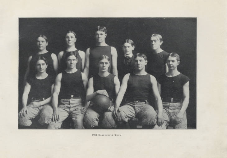 """""""#ThrowbackThursday to 1901 and the first #PurdueUniversity basketball team.   Good luck to the current @boilerball team tomorrow in their game vs. Michigan at 7 pm! #BoilerUp"""""""