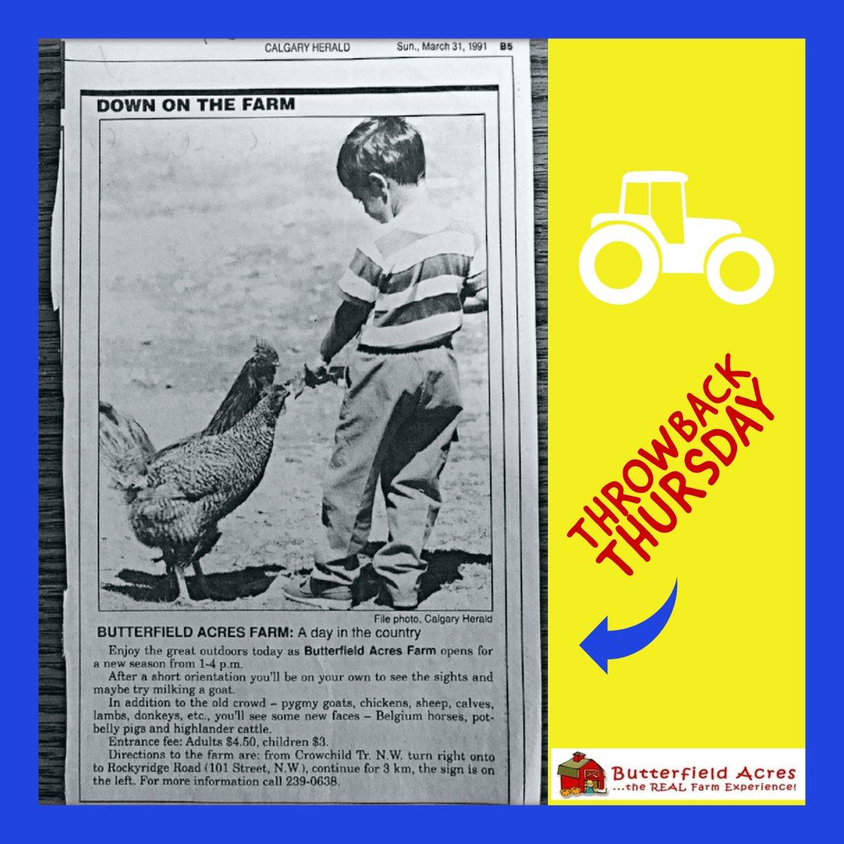 Kicking it back to March 31,1991🙌😎!  #ThrowbackThursday #TBT #YYC #Calgary #farmfun #oldschool