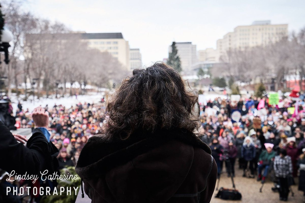 That was a glorious day! Very, very cold (Jan 20, 2018) but the crowd was 🔥  #ThrowbackThursday #WomensMarchYEG