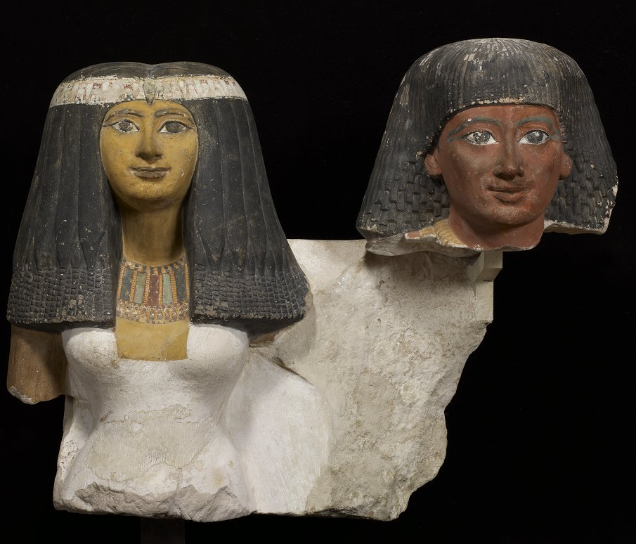 [#WorkOfTheDay]  Senynefer and his wife Hatchepsout lived in Thebes during a stable prosperous period of the New Empire. The dorsal pillar bears an offering formula which sheds light on the funerary aspect of the monument. ☛  #EgyptianAntiquities