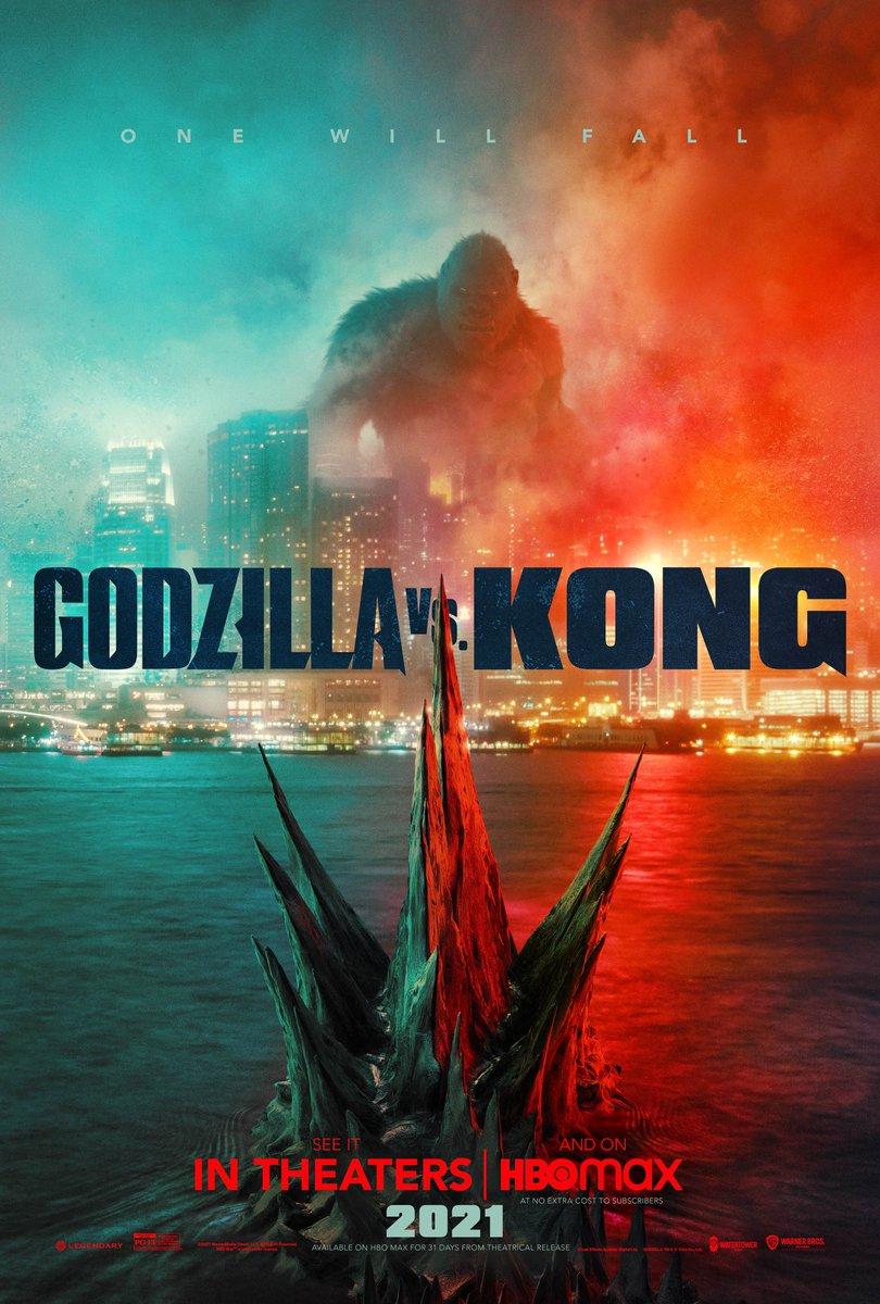 🚨ATENCIÓN 🦖🆚🦍 UNO CAERÁ  Tenemos el primer poster de #GodzillavsKong además revelarán el primer trailer oficial este domingo 24 de Enero 🍿🎥 ¡¿Quién está listo?!