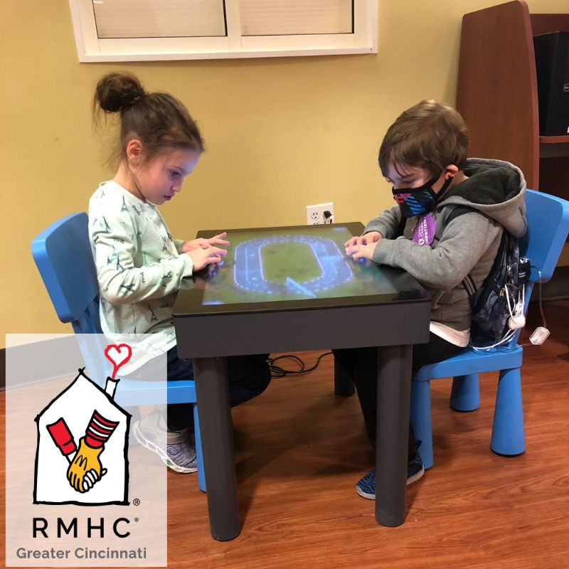 Helping #kids and #families cope with #health issues is a key part of Ronald McDonald Houses. We proudly work with 70 houses in four countries with our PLAY #interactive touch table.  Learn more: info@after-mouse.com  #RMHC #healing #games #family @RMHCincinnati @RMHC
