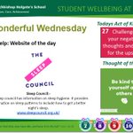 Image for the Tweet beginning: Todays Wellbeing slide includes a