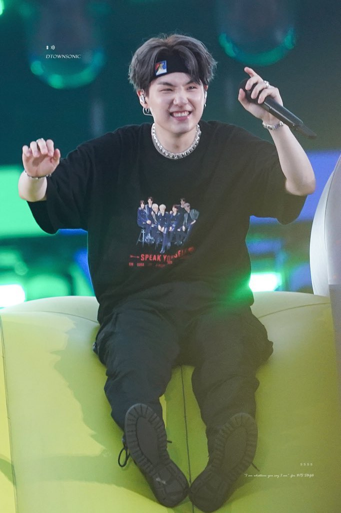 """""""Hope your dream doesn't remain as a dream.""""  Thank you Min Yoongi for being SUGA and Agust D and existing in our life.Thank you for your music and artistry,I love you and miss you a lot.💜  #8YearsWithSUGA #윤기가_우리의음악이된지_8년"""