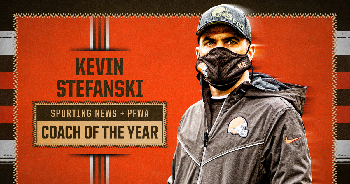 👏 Congratulations to Coach Stefanski, who was named NFL Coach of the Year by @sportingnews and @PFWAwriters  📰 »