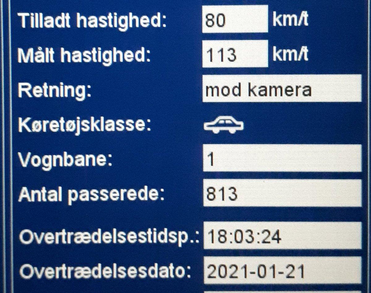 ATK har besøgt Flensborglandevej ved Tinglev i Aabenraa kommune. Desværre havde 17 bilister for travlt,  så de får en kedelig hilsen i E-boks. 2 får desuden også et klip i kørekortet for hastigheder målt op til 113km/t i 80zone. Sænk farten og kom sikkert frem #atkdk #politidk https://t.co/nijxs59iXz