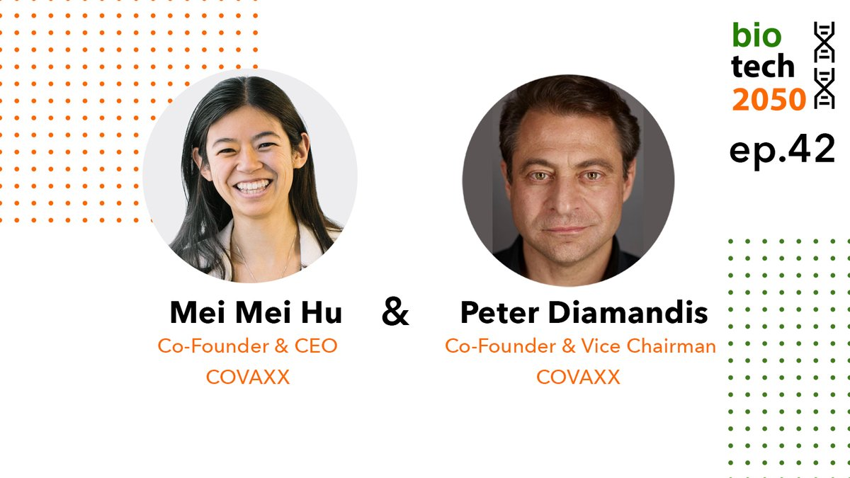 Listen to Mei Mei Hu, Co-Founder and CEO, and @PeterDiamandis, Co-Founder and Vice Chairman, of  @covaxxvaccine. They are focused on #COVID19 in the #emergingmarket, working to ensure #accessibility and #safety for their novel #vaccine.    #biotech #podcast