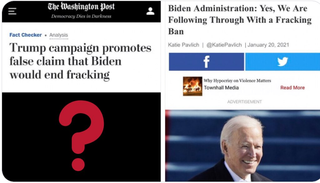 @washingtonpost Hey, y'all wanna go correct this story? Because it looks like y'all were intentionally pushing disinformation. @jack, that's illegal on here now, right? Are you going to hold yourselves to the same standard, or are you above it? #Hypocrisy
