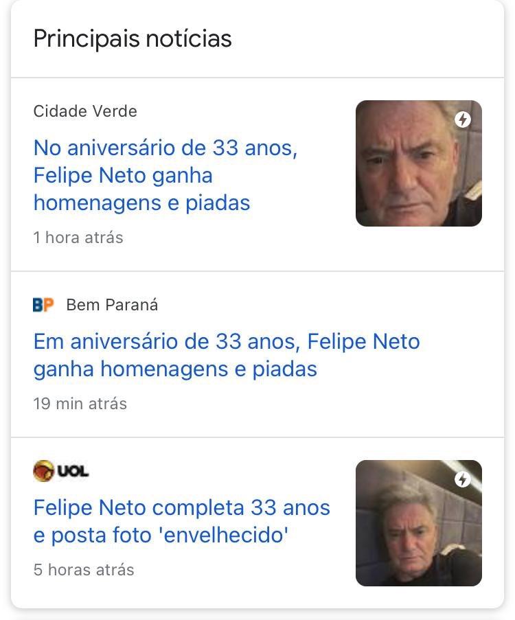 AVISEM QUE É O PATRÃO! 🗣  A tag #FelipeNetoLevel33 já é matéria em vários sites. ❤️