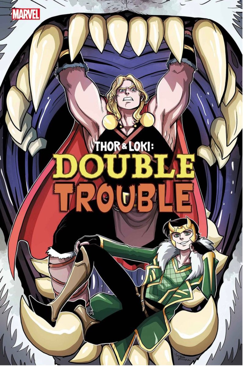 My variant cover for Thor & Loki: Double Trouble #2 , out in April!