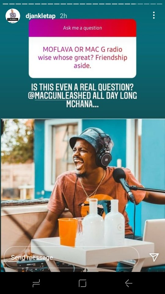@DJAnkletap 📻 @MacGUnleashed  @podcastwithmacg Mac is good in the broadcasting thing https://t.co/e5oZhhmQGW
