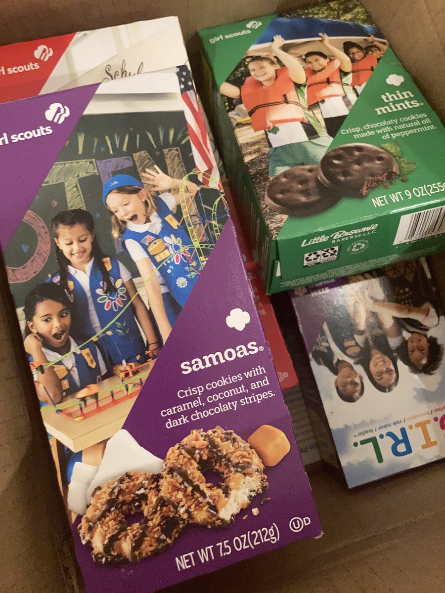 Thank you @kitastew for great suggestion and thanks #Troop6000 for the quick cookie delivery! @girlscoutsnyc  @girlscouts