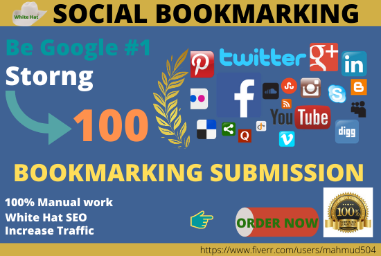 I will provide the best quality of social bookmarking manually SEO backlinks #COVID19 #Corona #SEO #seoservices #backlinks #linkbuilding #CoronaVac #Google #Fiverr #SocialMedia #socialmediamarketing #digitalmarketer #bookmark #Bookmarking Service Link: