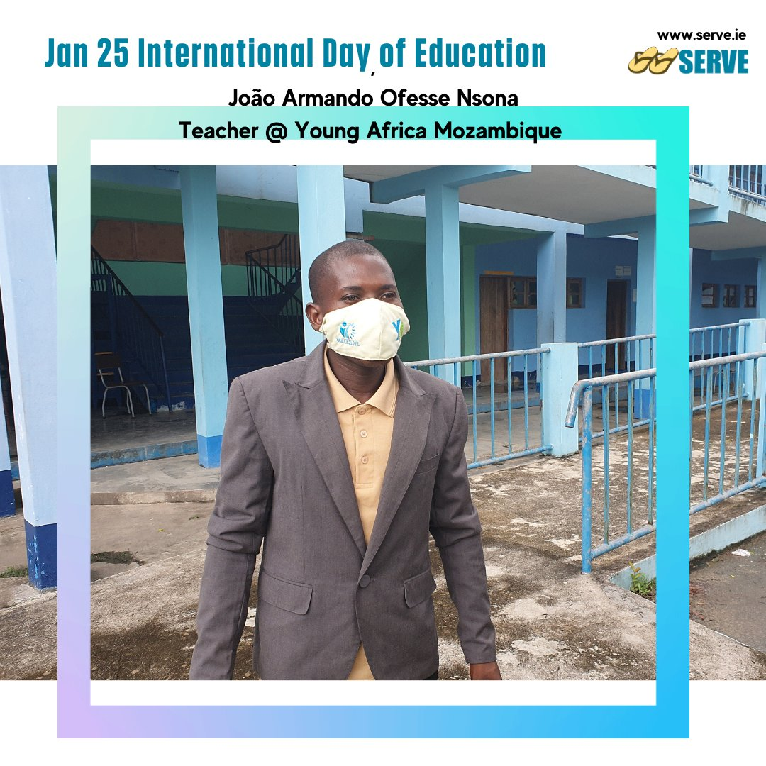 My name is João Armando Ofesse Nsona, I teach metalworks to the students @YoungAfricaInt, Beira (Mozambique). Because of the pandemic we had to reduce the number of students in the classrooms..... (1/3)  #InternationalDayofEducation   #GlobalGoals #SolidarityInAction #SDGs