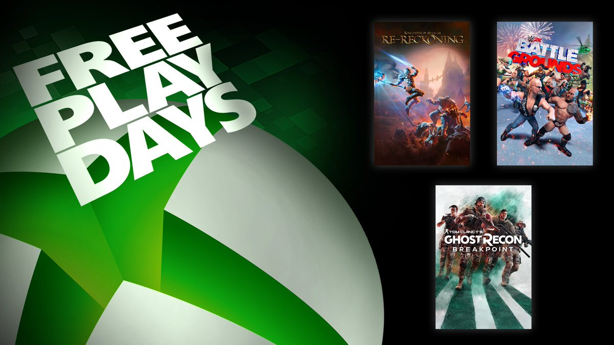 What do these games all have in common? You're going to be playing them this weekend.  The latest Free Play Days lineup is here: