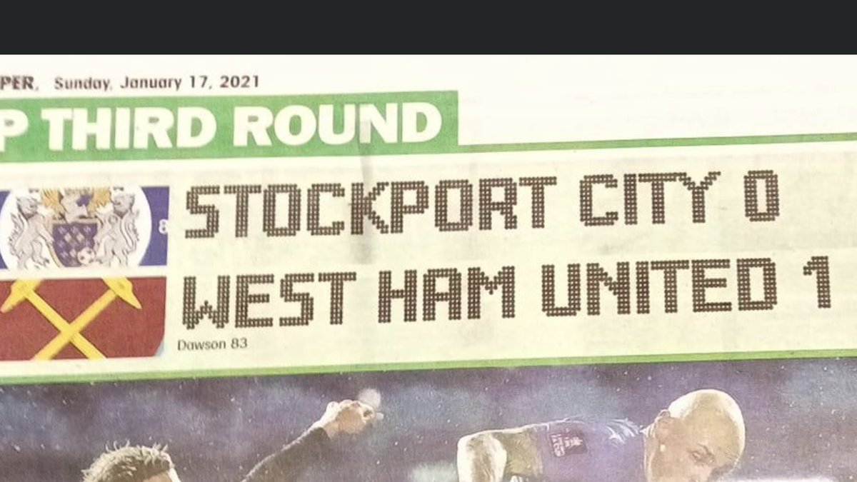 The @NonLeaguePaper got our name right after all! 🤔