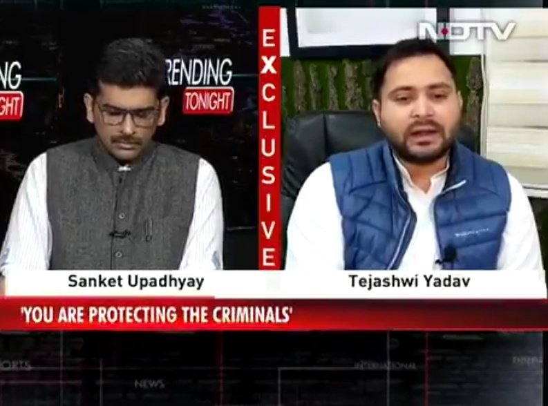 @trendingtonight बिहार की law and order सबसे खराब है। @yadavtejashwi   Leader of opposition Bihar #NDTVExclusive @RJDforIndia