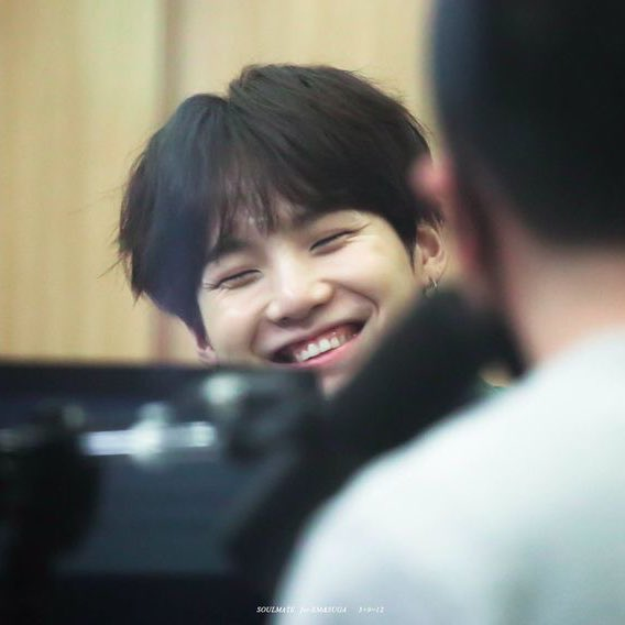 i hope you will continue to smile like that, min yoongi. thank you for inspiring a lot of people by your music we are so proud of you! ✨  #8yearswithSUGA
