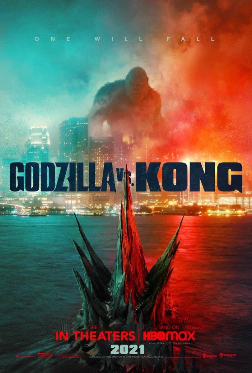 POSTER OFICIAL de #GodzillavsKong   El domingo podremos ver el primer trailer de este Blockbuster  #CLAQUETEROS 🎬