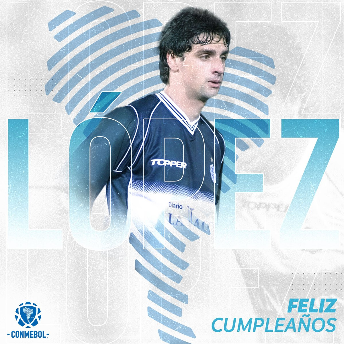 Hoy está de cumpleaños Hernán Rodrigo López un campeón 🏆 de la CONMEBOL @Libertadores, @RecopaConmebol y goleador de la CONMEBOL @Sudamericana con 1️⃣6️⃣ ⚽  ¡Felicidades uruguayo! 🇺🇾🎉