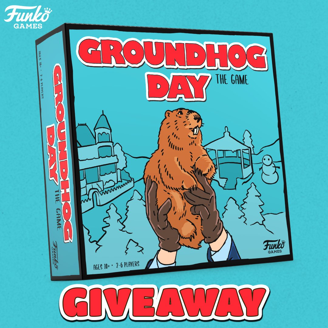 RT and follow @FunkoGames for your chance to win a copy of Groundhog Day!  Game Details:   Winner will be chosen Monday, January 25 at 9am PST. 18+, US only.