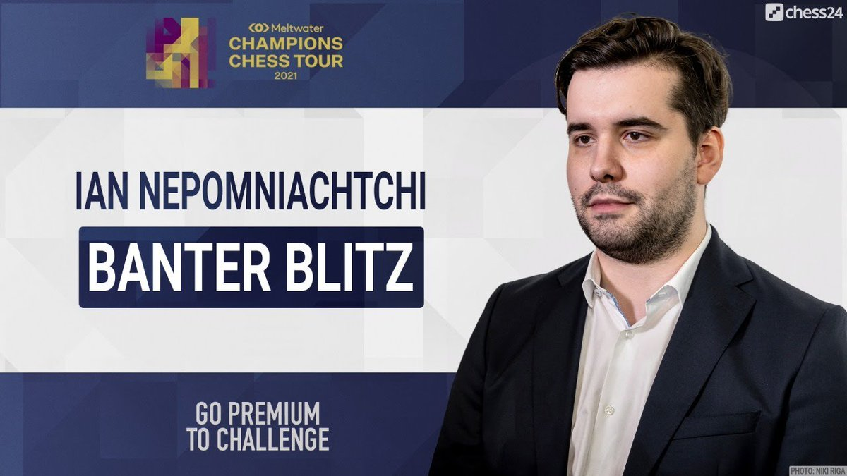 test Twitter Media - The chess isn't over for today, with Ian Nepomniachtchi playing Banter Blitz in just over 10 minutes!   https://t.co/g5qIkkaN8N  #c24live #ChessChamps https://t.co/rEIB6wCbfe