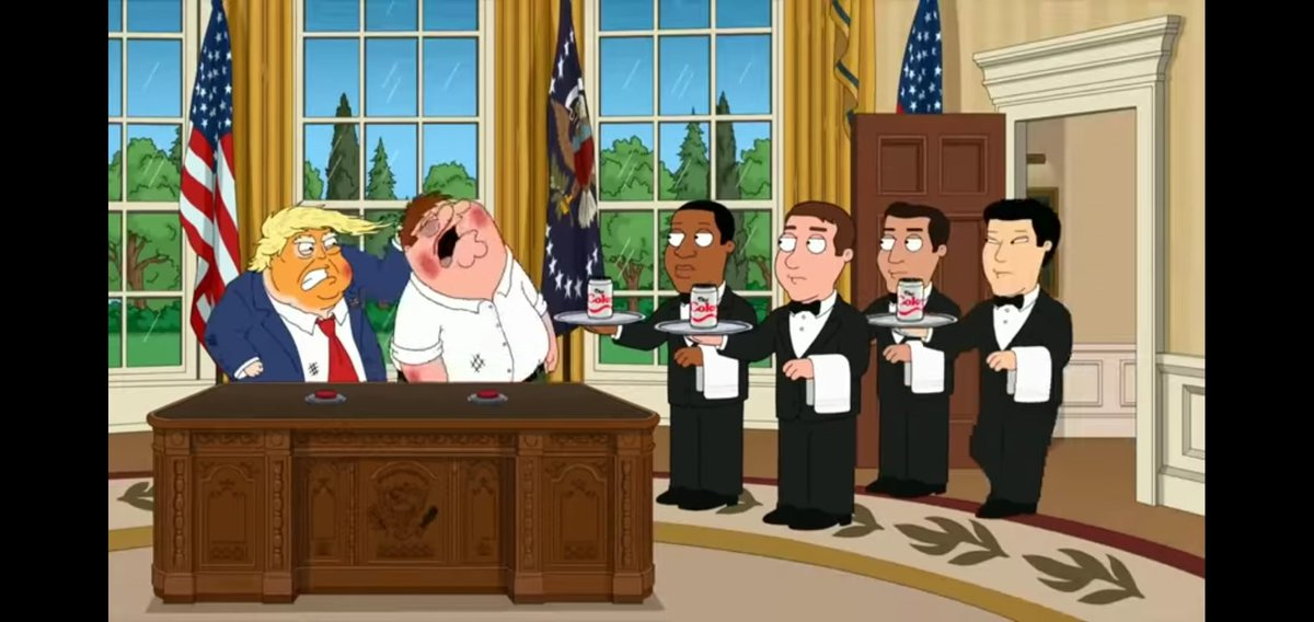 """Replying to @shoopdahoop25: FAMILY GUY WASNT JOKING ABOUT THE """"DIET COKE BUTTON""""?"""