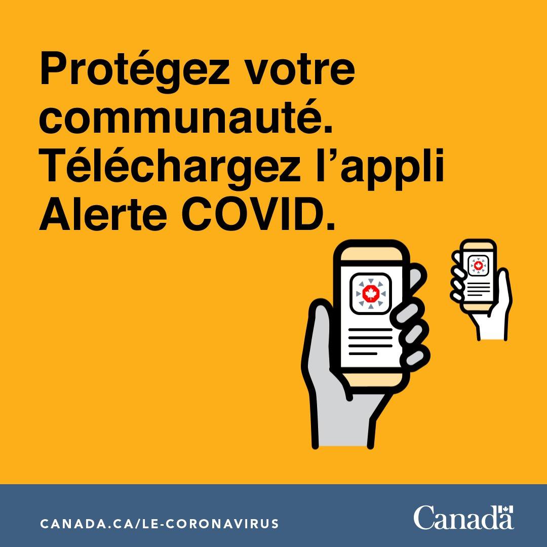 La « fatigue pandémique » s'installe, mais il est encore très important de suivre les directives de santé publique. Si vous êtes au Canada, téléchargez l'application #AlerteCOVID. Soyons solidaires et sécuritaires. ❤️ – Céline xx… @GouvCanSante 👉🏼