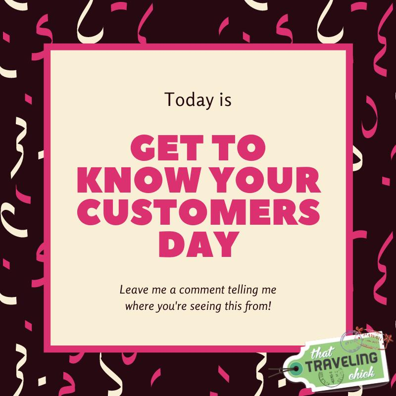 In honor of Get to Know Your Customers Day, I'd love to hear from you!   Comment below where you're from and any other fun fact you'd like to share!  . . . #customerappreciation #gettoknowyourcustomersday #dropacomment #followforfollow #likeforlike #thanksforyoursupport