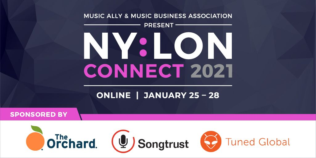 With days to go before #NYLONConnect 2021 commences, #MusicBiz and @MusicAlly would like to thank sponsors  @orchtweets, @songtrust and @tunedglobal for helping make the event possible!  Register now to join the #globalmusicbusiness Jan. 25-28 👉
