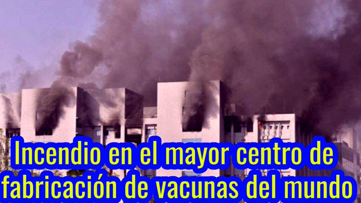 Ahora : Incendio en el mayor centro de fabricación de vacunas del mundo.  Mira el Video 👉   #LoÚltimo #vacunas #COVID19 #vacuna #incendio #Serum #AstraZeneca #Oxford #VacunaCOVID19 #VacunasYa #Ahora #FelizJueves