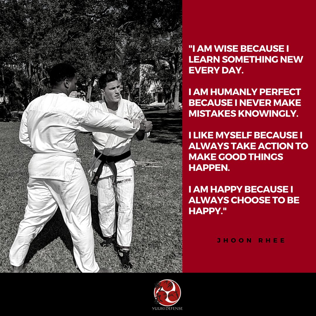 Jhoon Rhee's mantra for a happier, healthier life!  #health #learning #yuukidefense #selfdefense #fitness #motivation #wellness #trendingnow #martialarts #mindhack #newyearnewyou #selfprotection #tedtalk