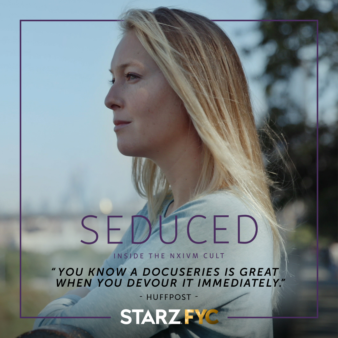 Thank you to India Oxenberg and all the brave survivors for speaking out about their experience inside the NXIVM cult in the captivating documentary series #SeducedSTARZ. #STARZFYC