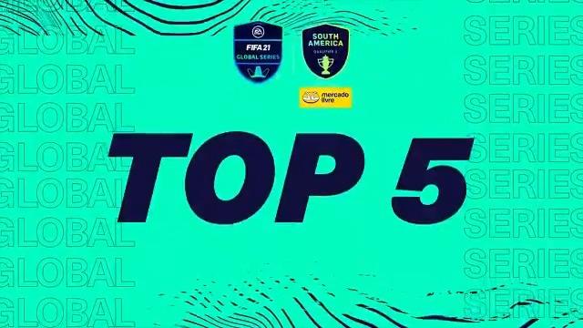Te lembramos o que aconteceu na Global Series América do Sul com os Top 5 gols de PS4.  🏅 Que gênio, @Nicolas99fc  #FGS21⚽ apresentada por @MercadoLivre