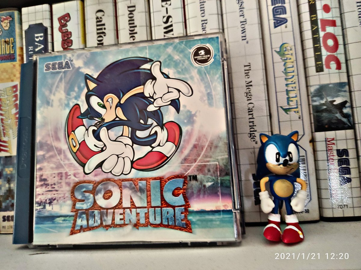 21/365 of #AGameADayFromMarcHooray is Sonic Adventure. Probably my favourite 3D Sonic game 🙂  It's bloody brilliant #Sega #Gaming