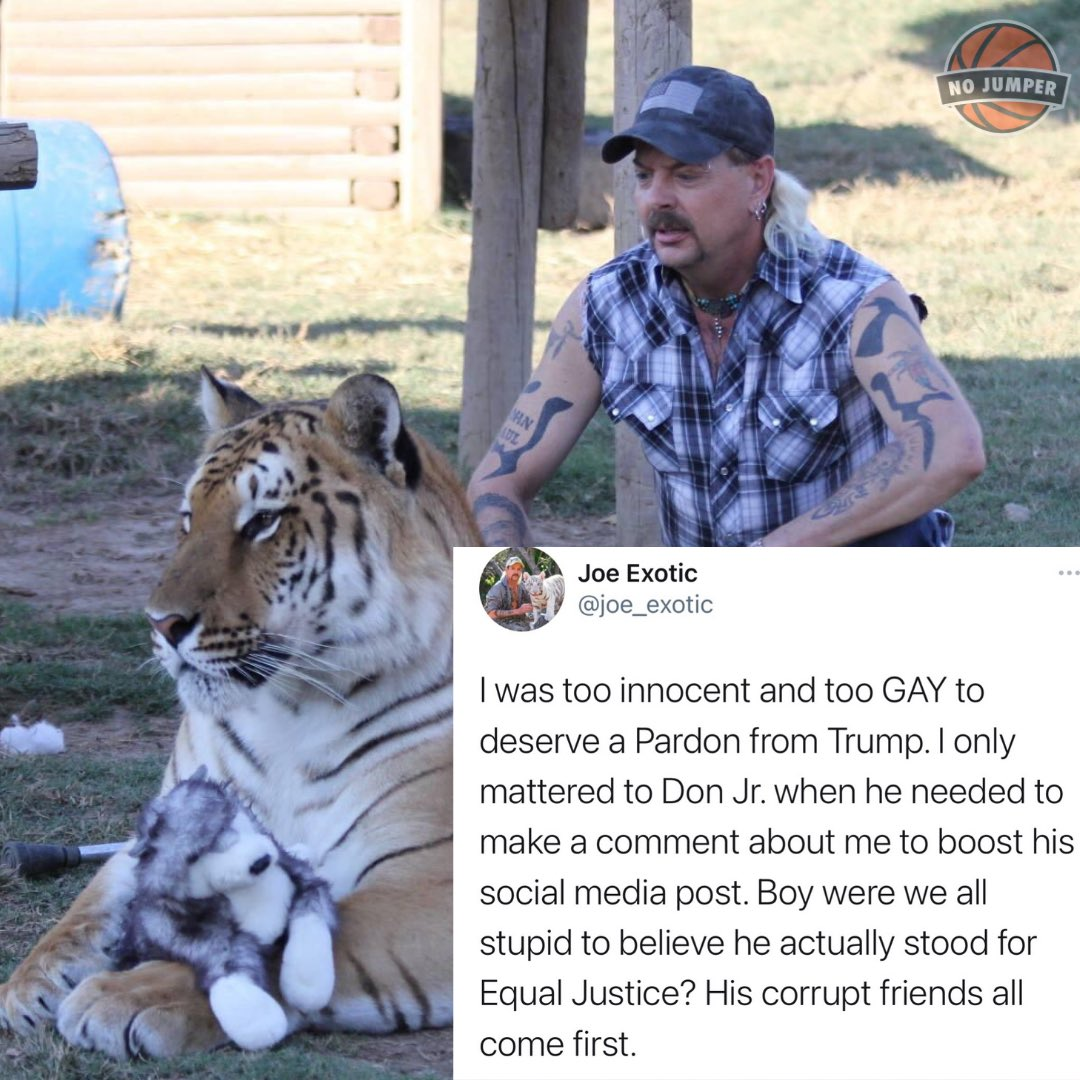 #joeexotic aka #tigerking was very disappointed that he was not pardoned by #donaldtrump ... thoughts? https://t.co/61iqKJ0RwY