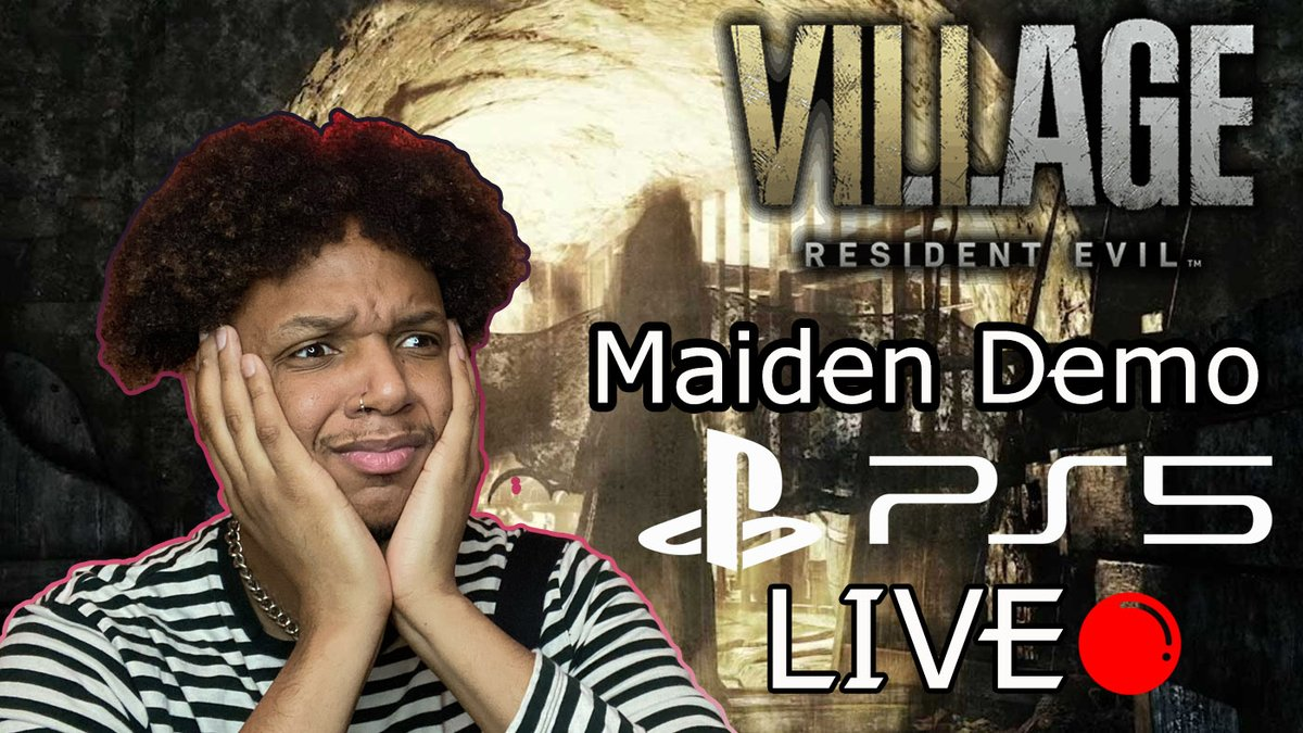 I'm about to Play the #ResidentEvilVillage #Maiden demo live on my Youtube now! Come check it out with me and enjoy!  #PS5